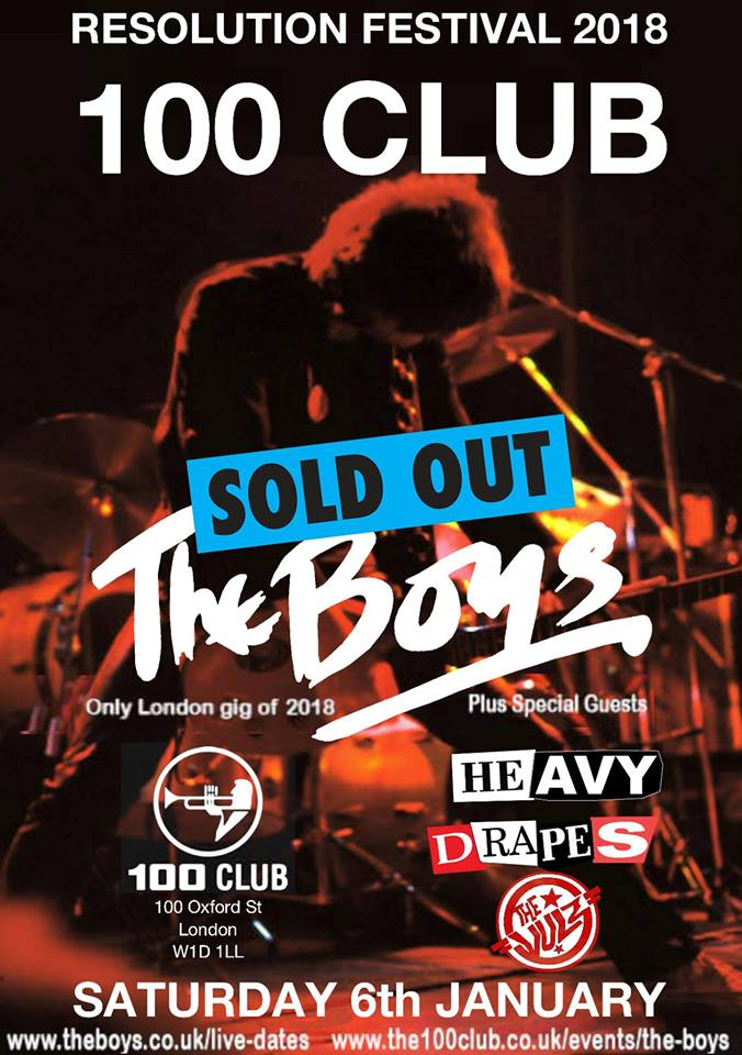 The Boys 100 Club poster