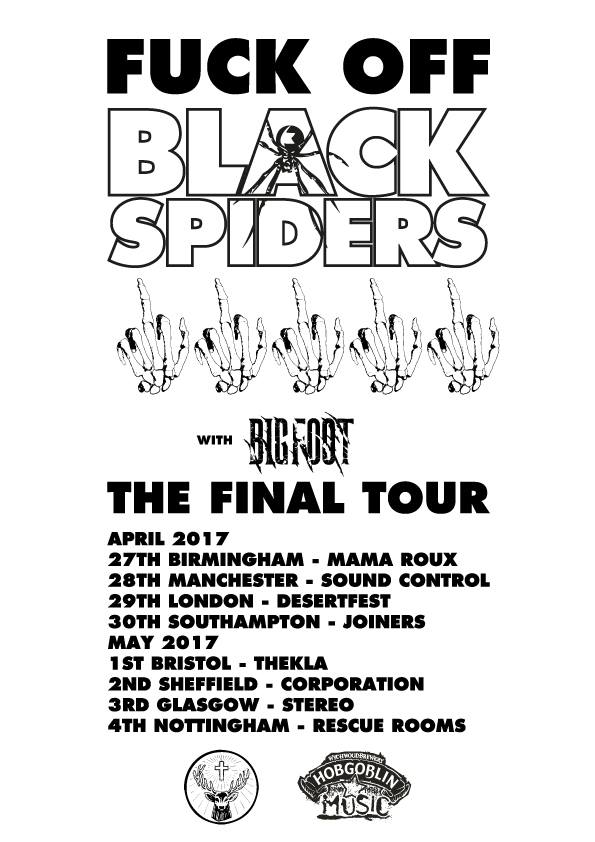 Black Spiders farewell tour poster