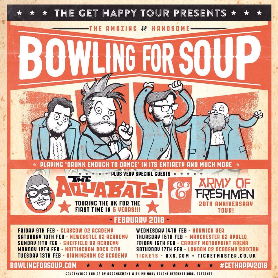 Bowling For Soup 2018 tour poster