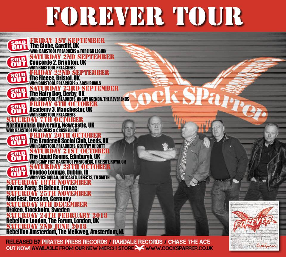 Cock Sparrer Tour Poster