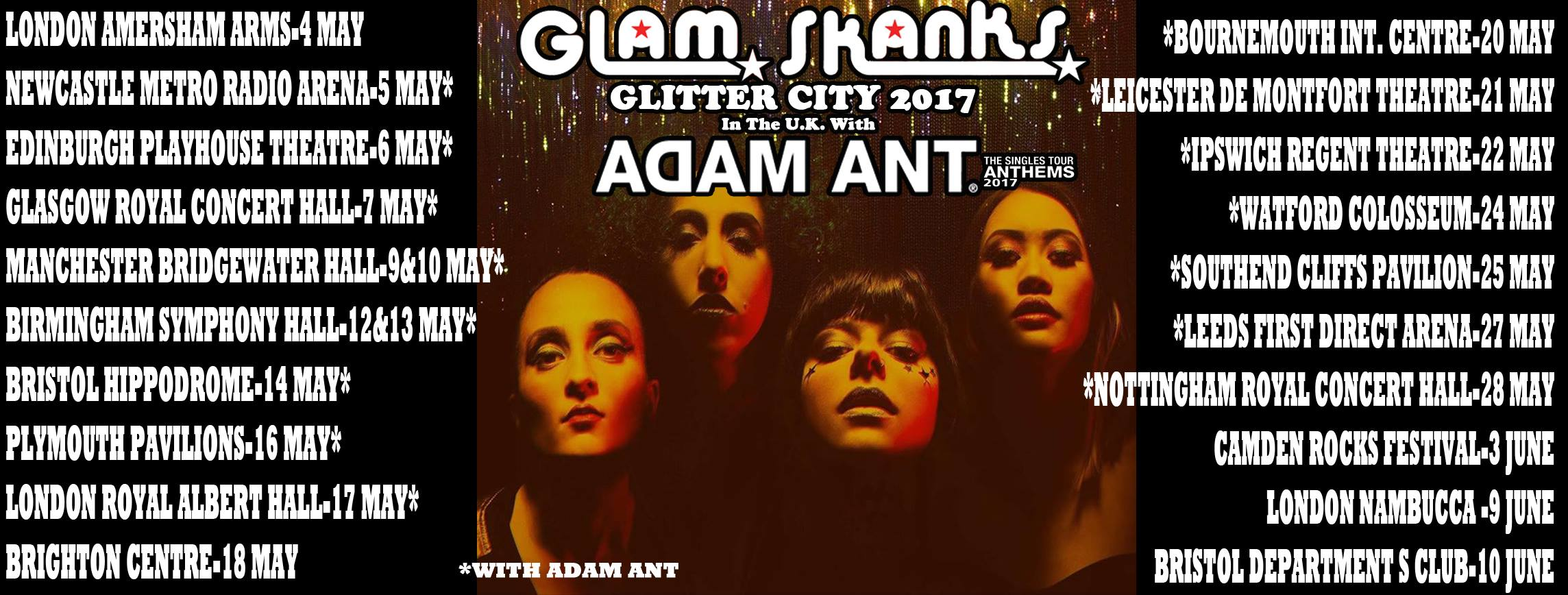 Glam Skanks UK tour header