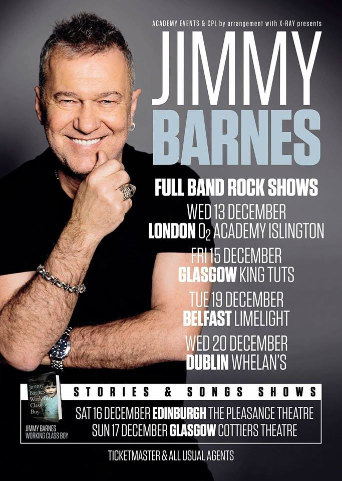Jimmy Barnes tour poster
