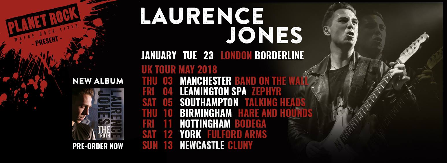 Laurence Jones tour header