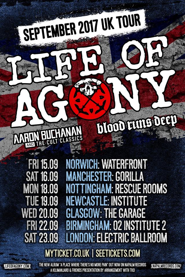 Life Of Agony UK tour poster