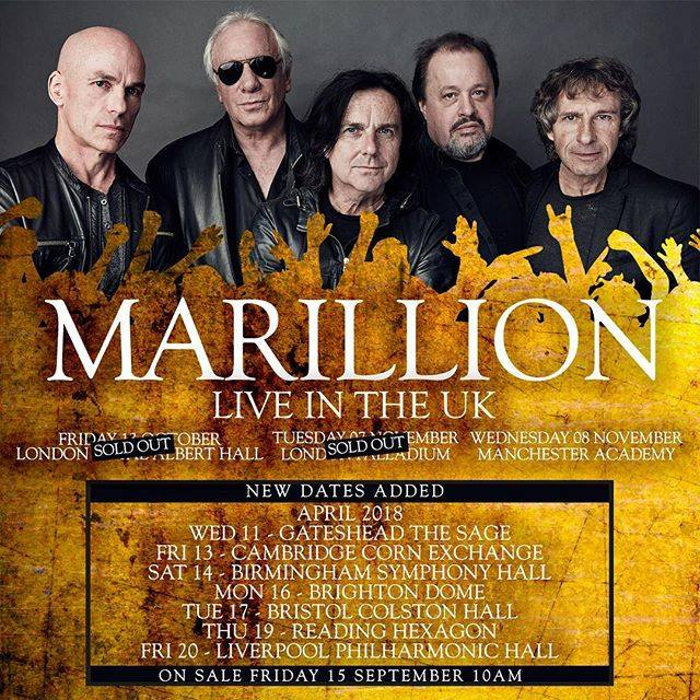 Marillion tour poster