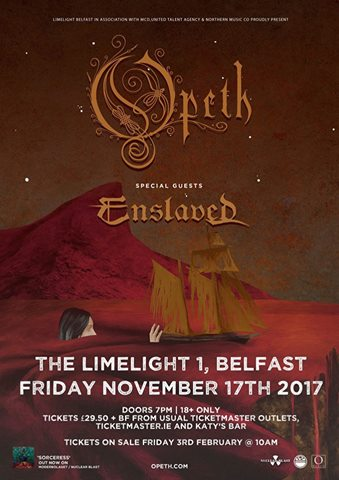 Opeth Belfast 2017 poster
