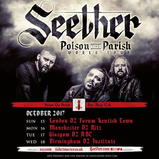Seether 2017 tour flyer