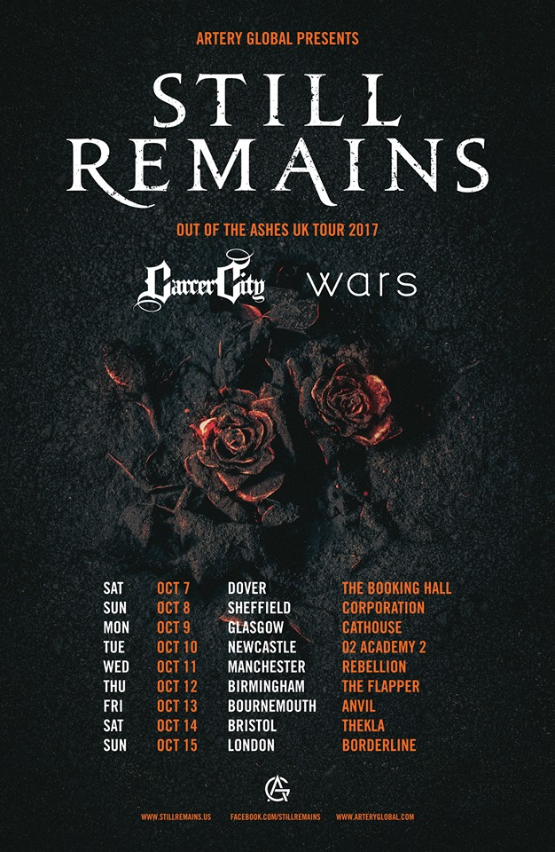 StillRemains UKTourPoster
